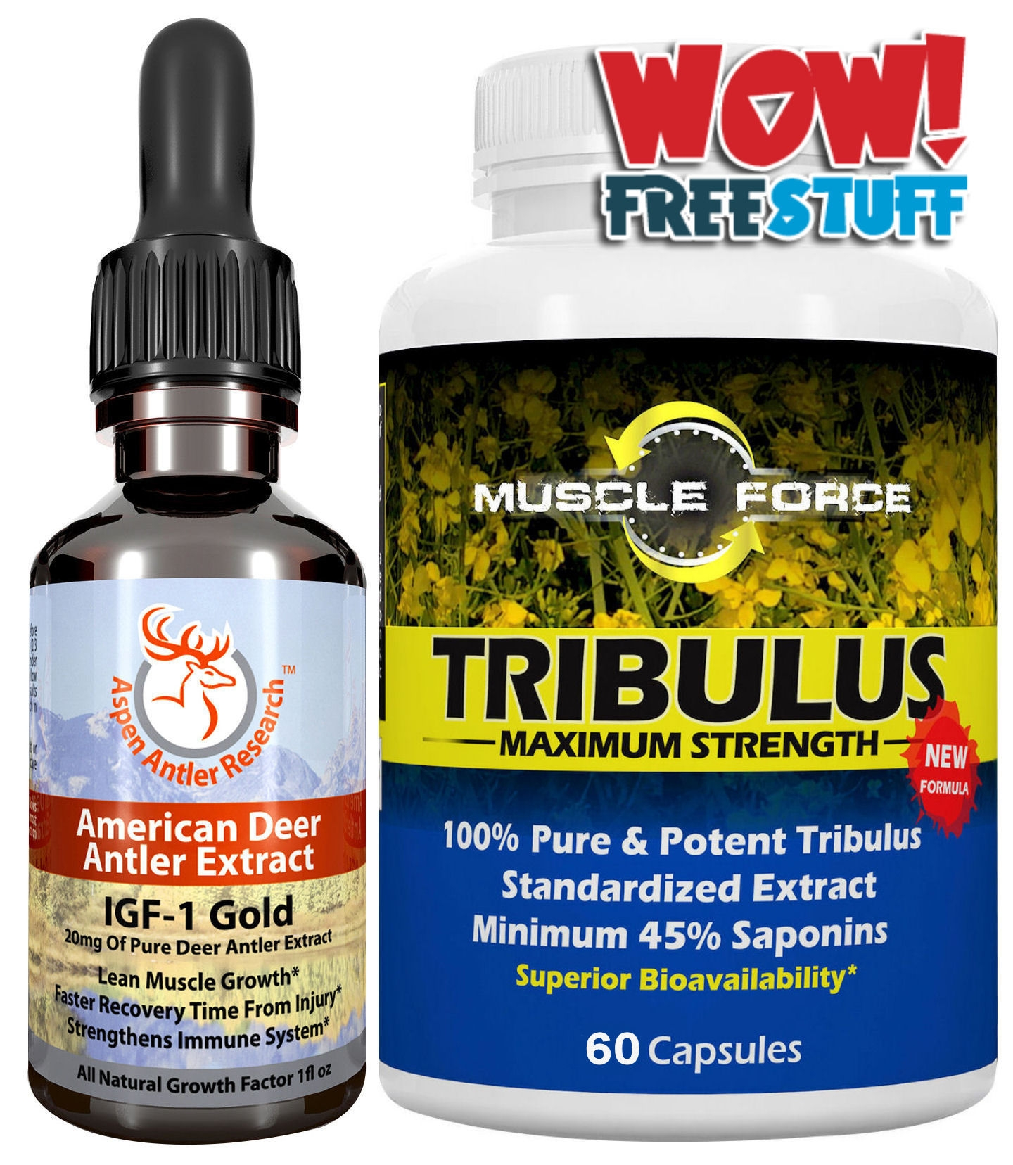 Deer Antler Velvet Extract Plus Free Tribulus