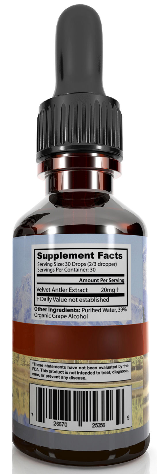 Deer Antler Velvet Extract Gold Supplement Facts