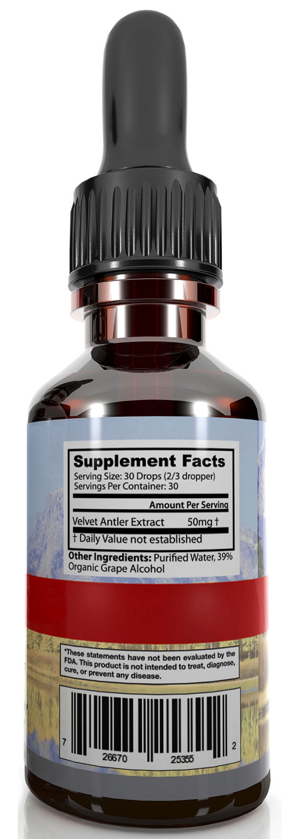 Deer Antler Velvet Extract Platinum Supplement Facts