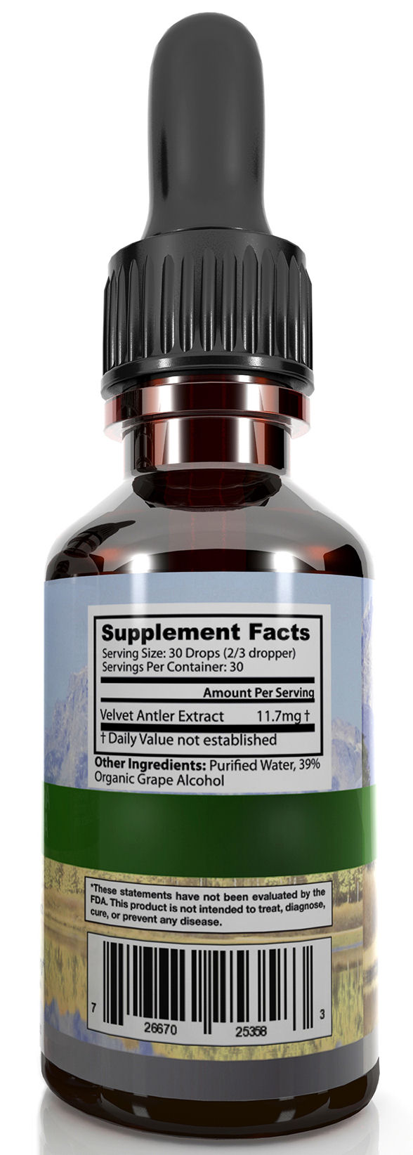 Deer Antler Velvet Extract Silver Supplement Facts