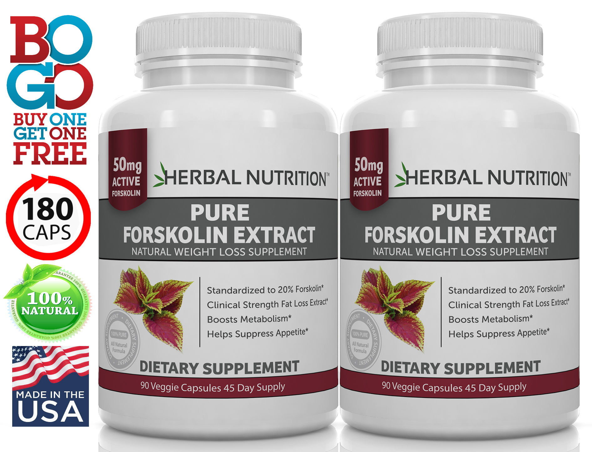 Forskolin Extract Two Bottles