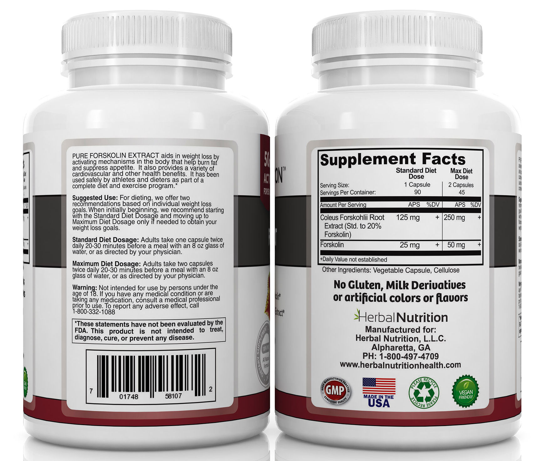 Forskolin Supplement Facts