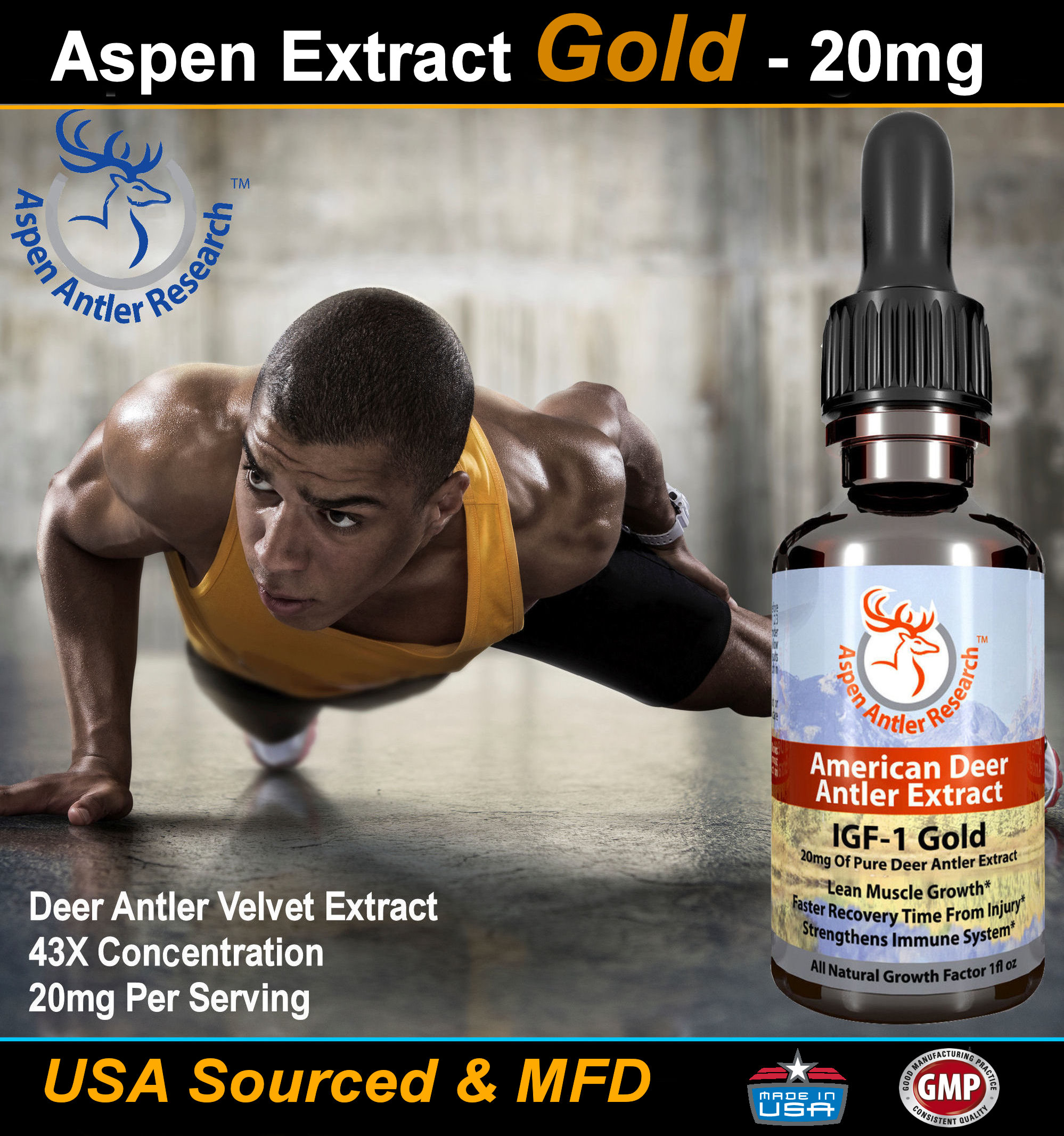 Deer Antler Velvet Extract Gold Graphic