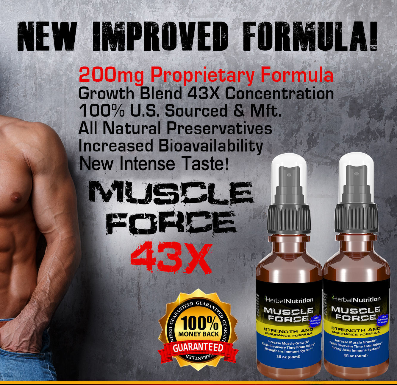 Muscle Force Strength & Endurance Spray List of Benefits