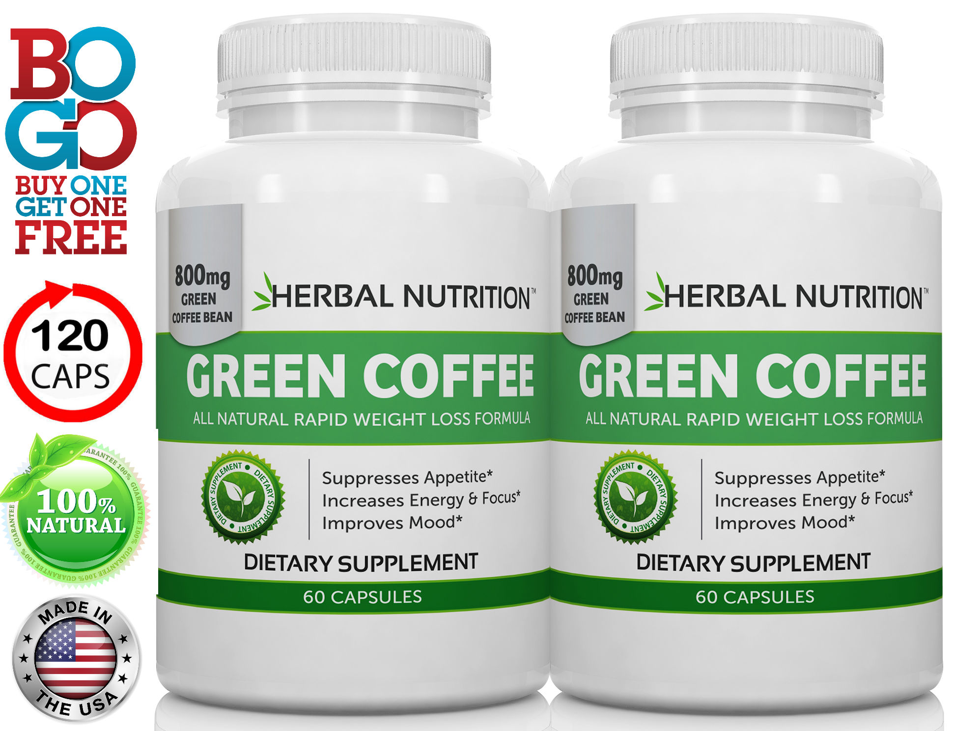 Green Coffee Bean Extract Two Bottles