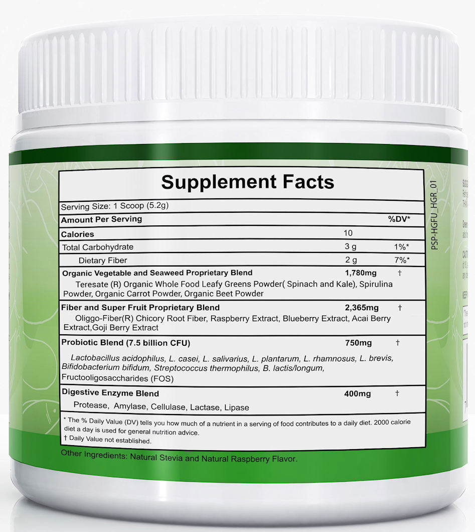 Green Fusion Superfood Facts