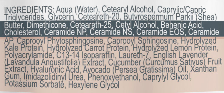 Phytoceramides Creme Ingredients