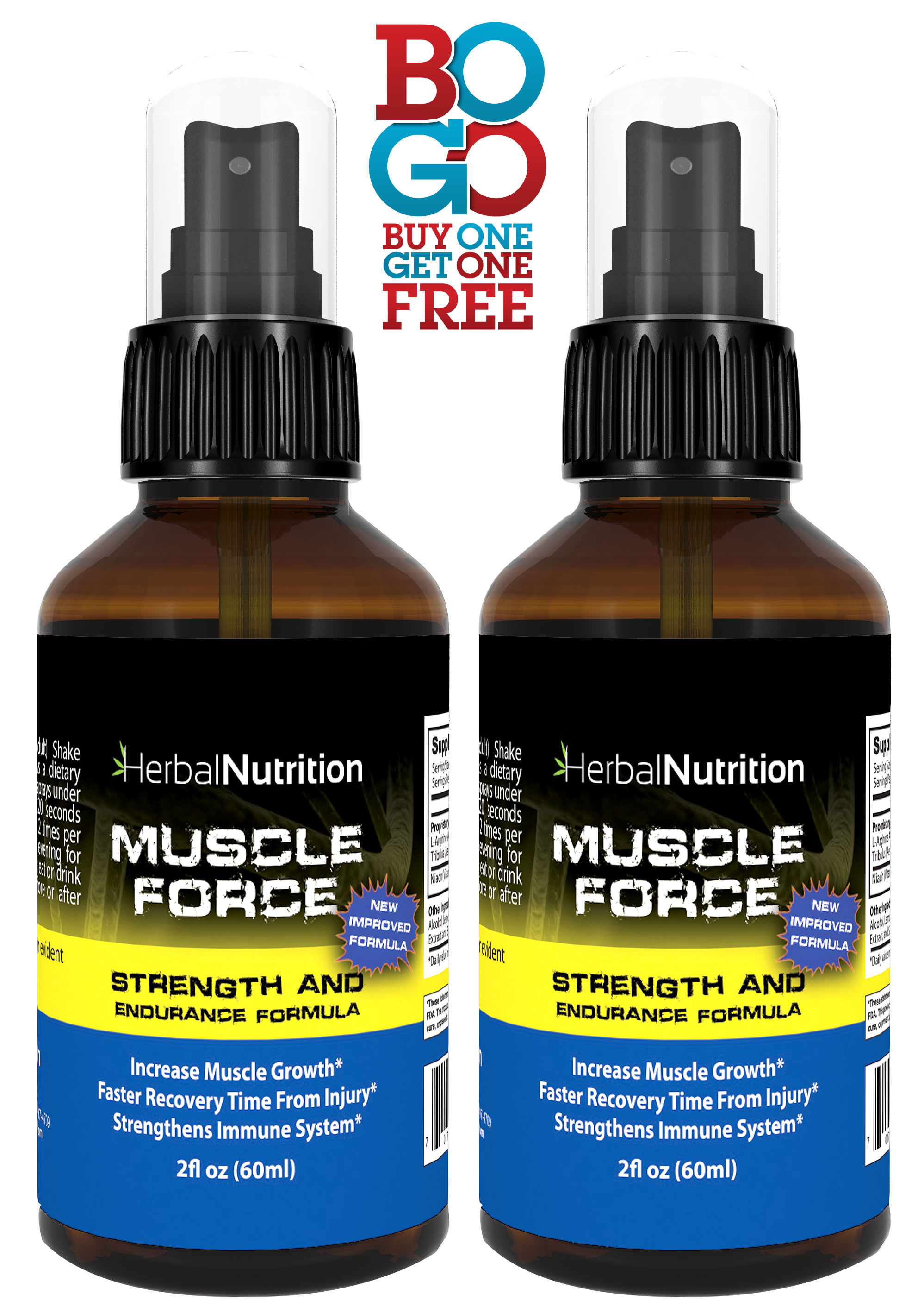 Muscle Force Strength & Endurance Spray Bottles
