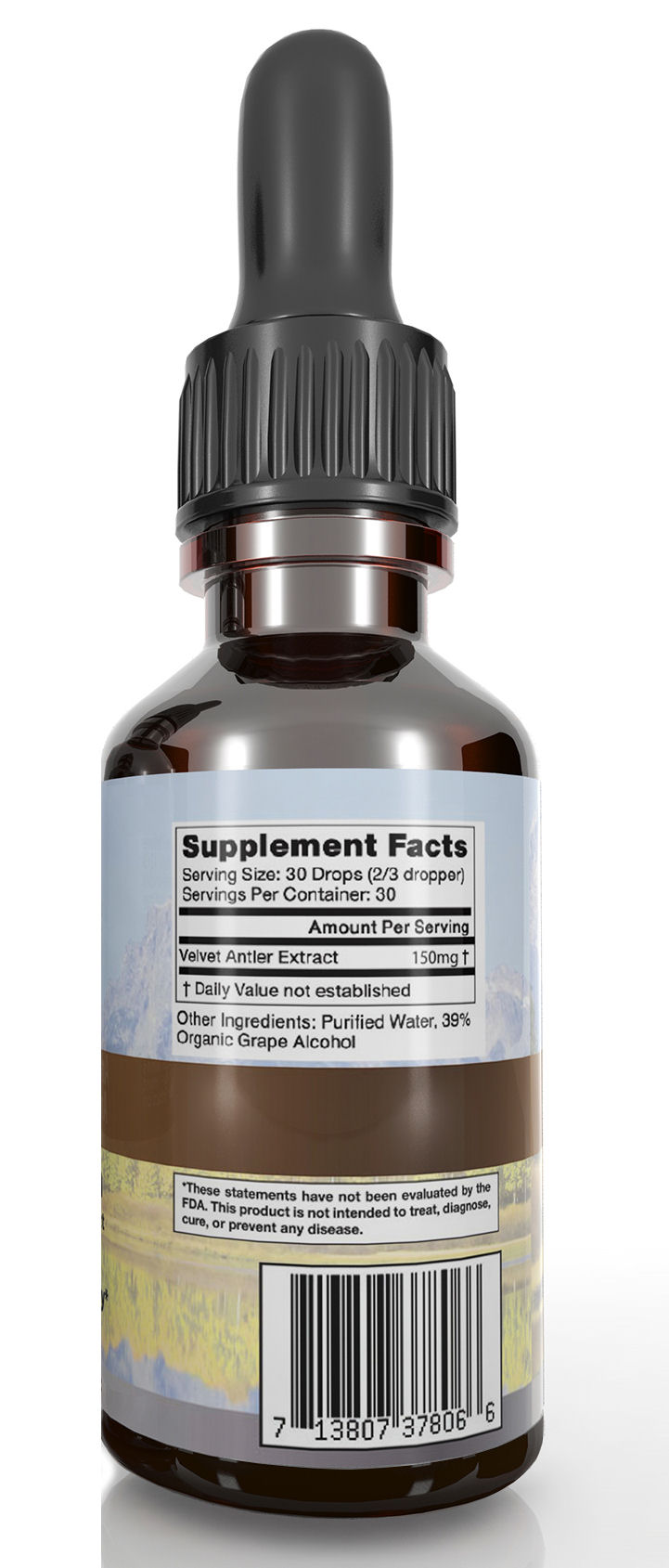 Deer Antler Velvet Extract Palladium Supplement Facts
