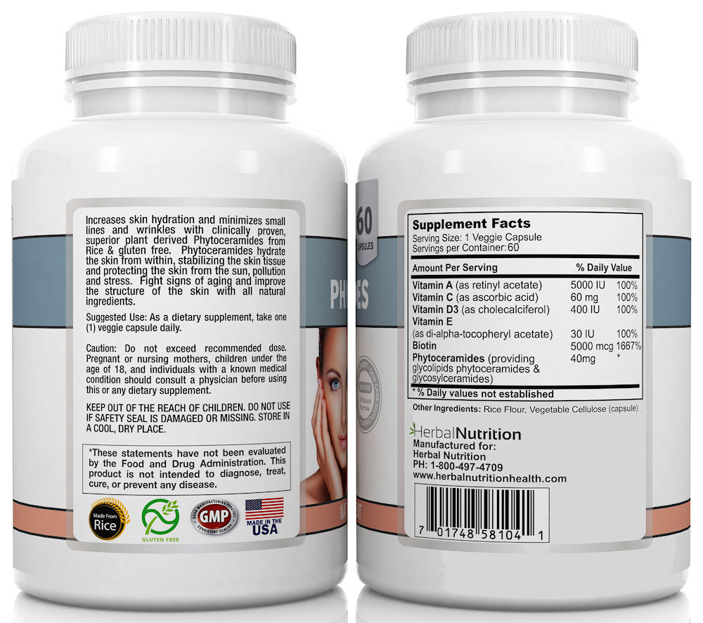 Phytoceramides Supplement Facts Directions