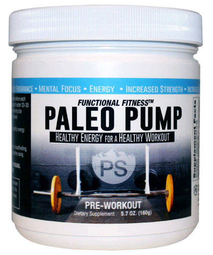 Paleo Pump Preworkout Powder Bottle