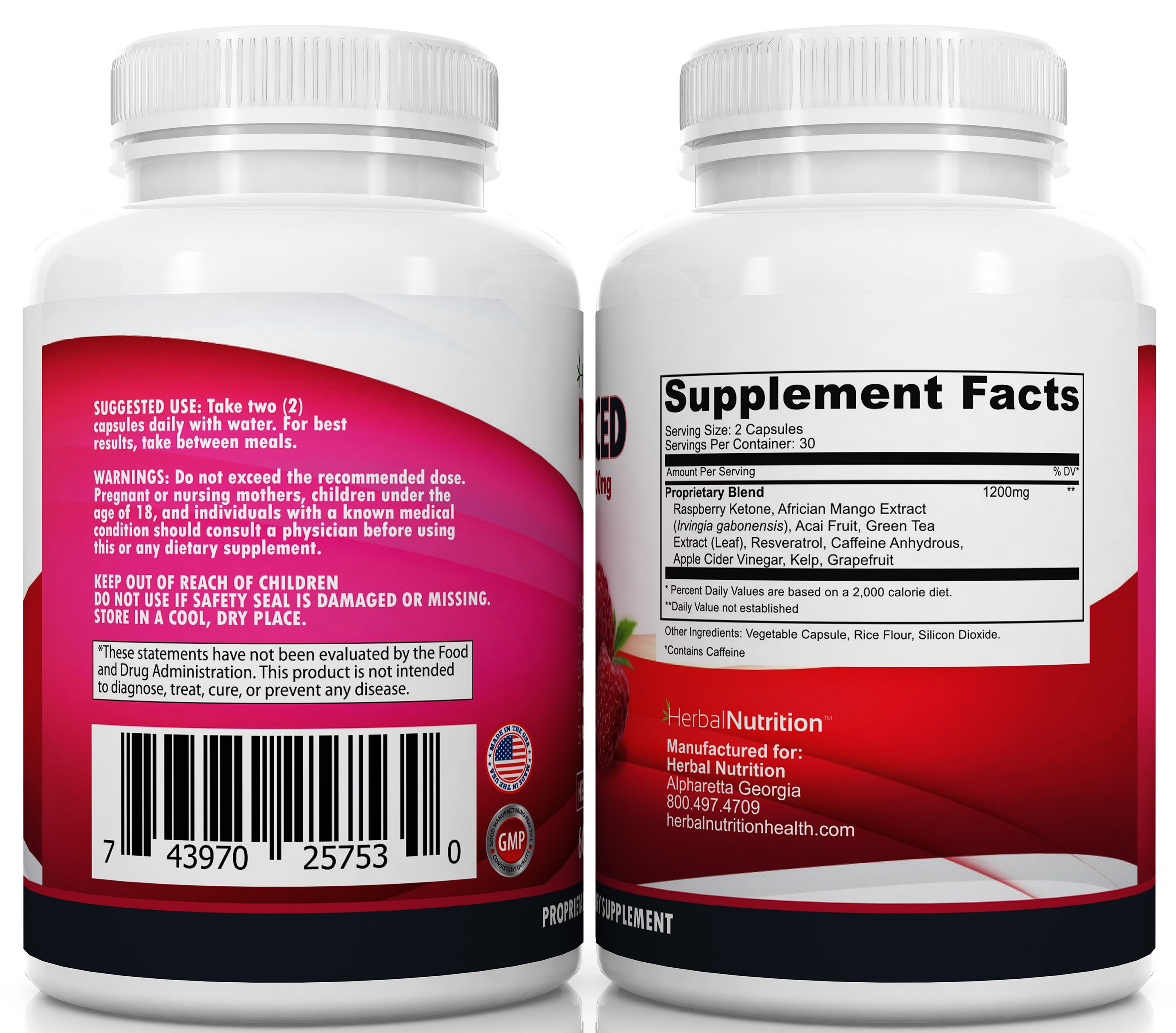 Raspberry Ketones Complex Backs