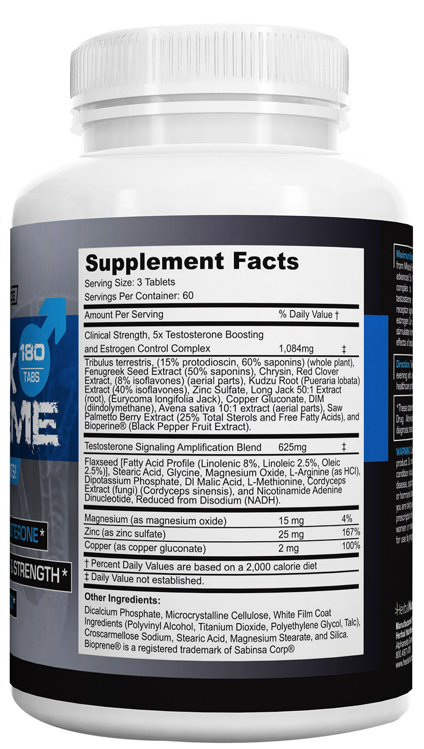 T5x Extreme Supplement Facts
