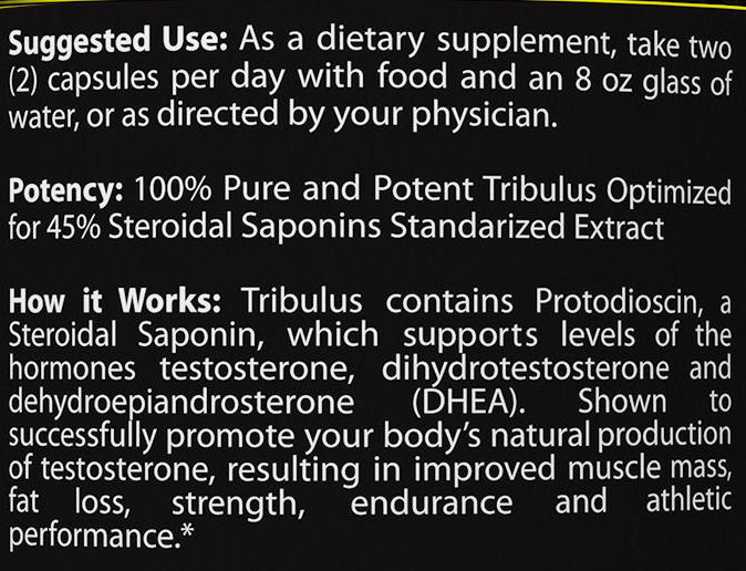 Tribulus Terrestris Directions