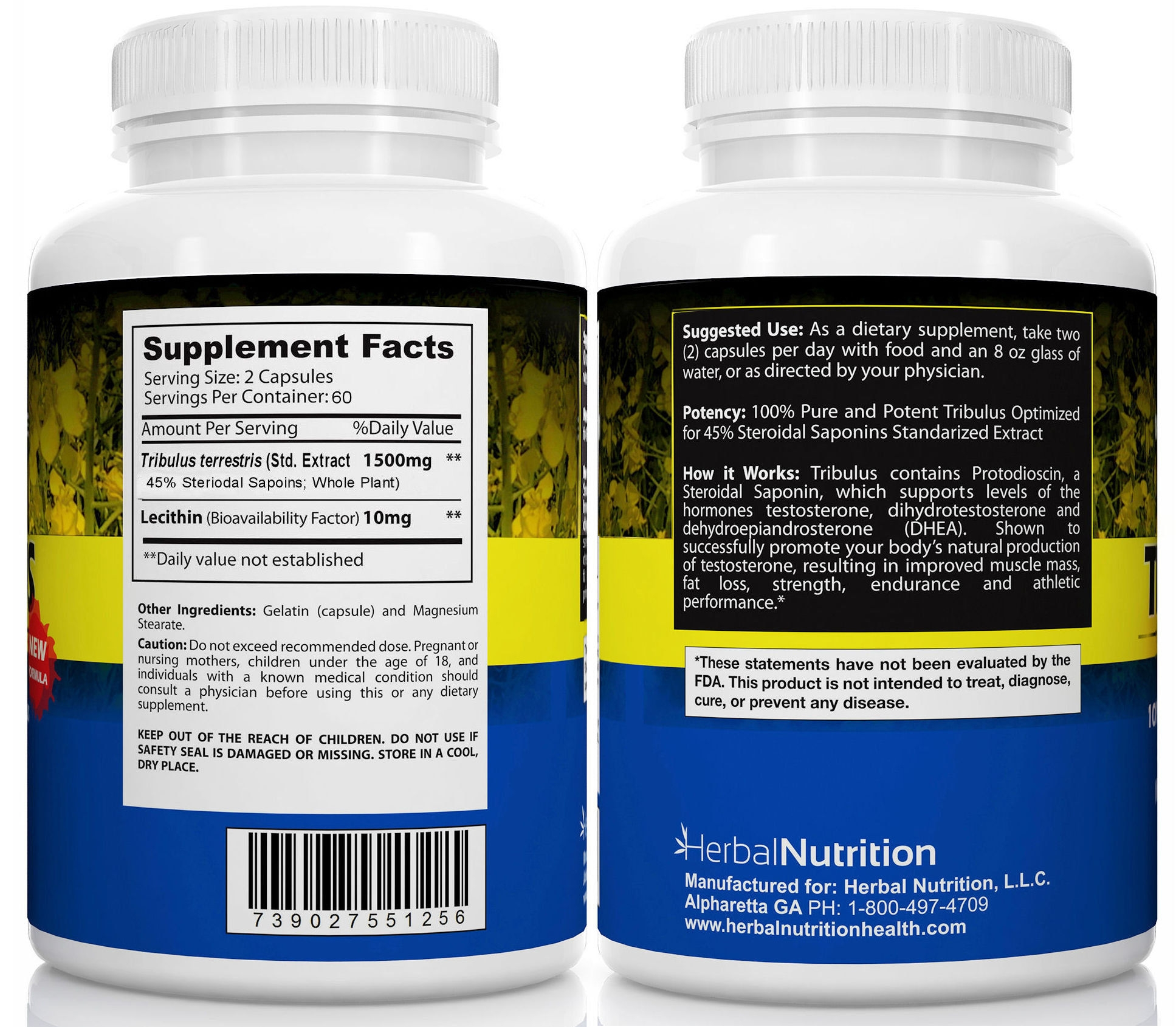Tribulus Terrestris Supplement Facts
